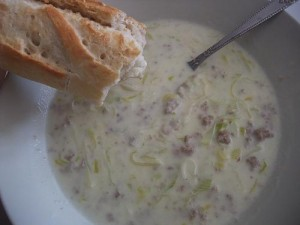 Käse-Lauch-Suppe